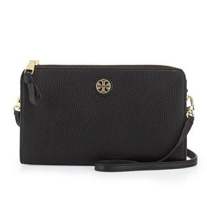 Tory Burch Robinson Pebbled Wallet Crossbody Bag